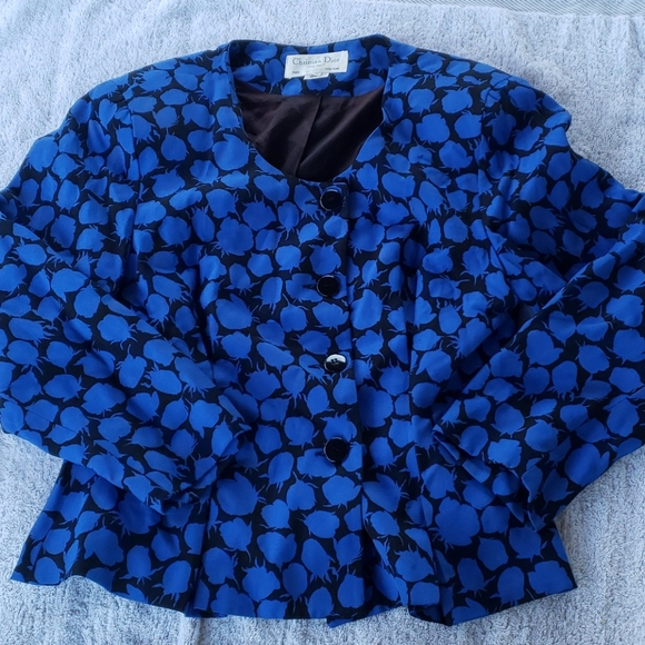 Vintage Christian Dior blue Blazer